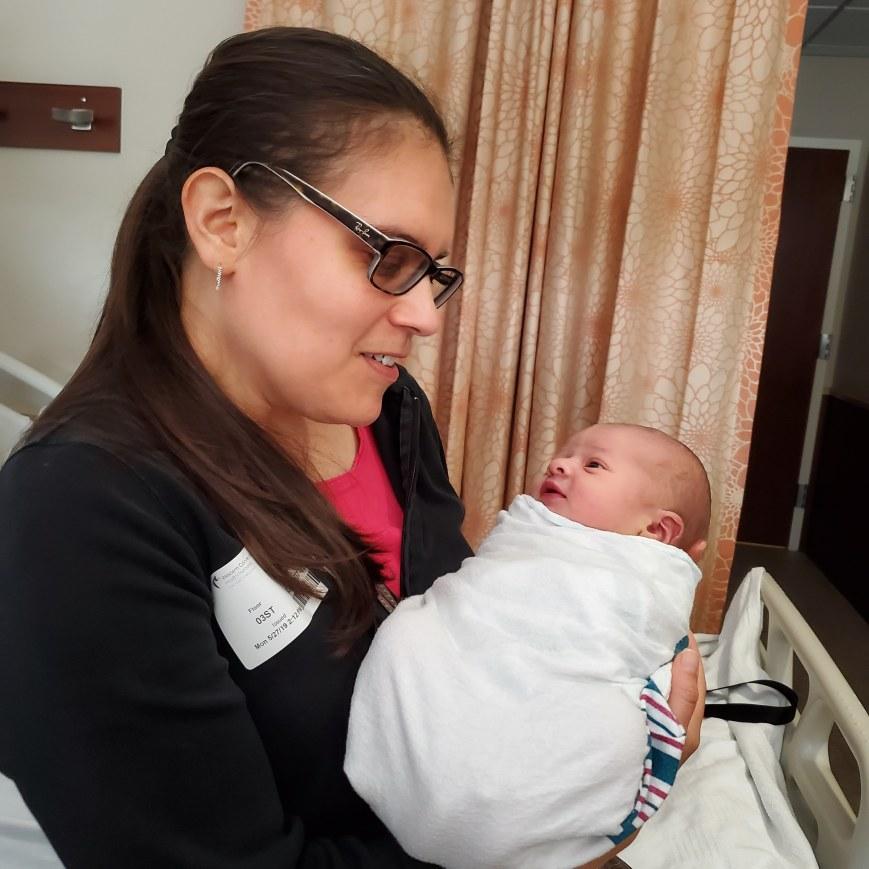 Fantasy author Melinda Kucsera with her nephew, Daniel Kucsera